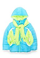Pacific Trail Colorblock Puffer Coat and Scarf