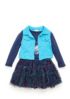 Nannette 2-Piece Vest and Butterfly Dress Set Girls 4-6x