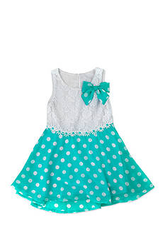 Nannette Mint Lace Chiffon Dress Girls 4-6X