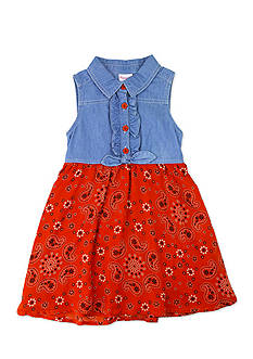 Nannette Denim Bandana Dress Girls 4-6x