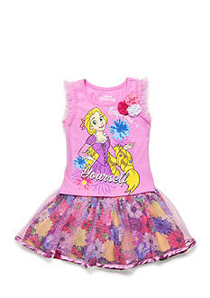 Disney 2-Piece Rapunzel 'Express Yourself' Top and Floral Scooter Set Girls 4-6x