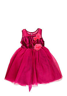 Nannette Illusion Neck Dress Girls 4-6x