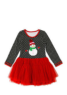 Nannette Snowman Tutu Dress Girls 4-6x