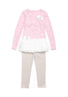 Nannette Lace Bubble Top and Legging Set Girls 4-6x