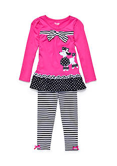 Nannette 2-Piece Poodle Top and Legging Set Girls 4-6x