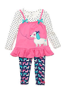 Nannette Puppy 2-Piece Set Girls 4-6x