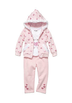 Nannette Glitter Heart 3-Piece Set Girls 4-6x