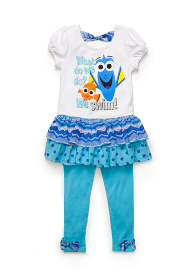Disney Pixar 2-Piece Finding Dory Tunic and Legging Set Girls 4-6x