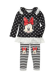 Disney 2-Piece Minnie Mouse Dot/Striped Set Girls 4-6x
