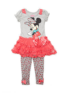 Disney Minnie Mouse Ruffle Tunic and Legging 2-Piece Set Girls 4-6x