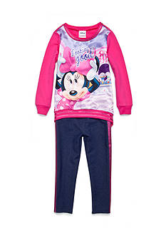 Disney 2-Piece Minnie Mouse Sweatshirt and Legging Set Girls 4-6x