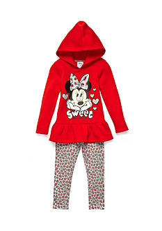Disney Minnie Fleece Legging Set Girls 4-6x