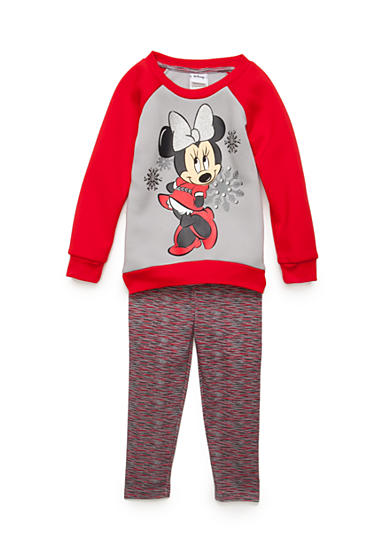 Disney® Minnie Novelty Top and Space-Dye Legging Set Girls 4-6x