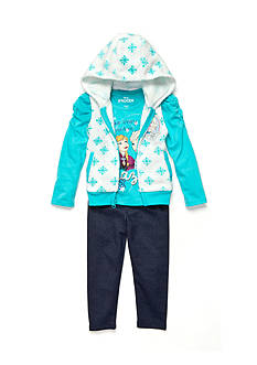 Disney Frozen Character Vest, Long Sleeve Shirt and Legging Set Girls 4-6x