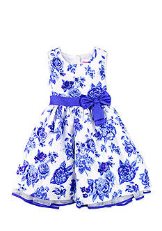 Nannette Floral Shantung Dress Girls 4-6x