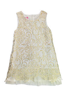 Nannette Foil Lace Dress Girls 4-6x
