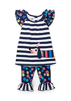 Nannette Dog Tunic and Pants Set Girls 4-6x