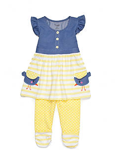 Nannette Chambray Tunic and Legging 2-Piece Set Girls 4-6x
