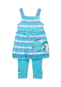 Nannette Kissy Fish Tunic and Legging 2-Piece Set Girls 4-6x