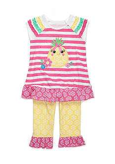 Nannette Stripe Pineapple Tunic and Legging 2-Piece Set Girls 4-6x