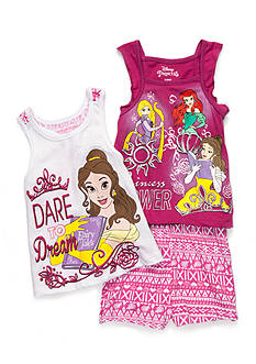 Disney Princess 'Princess Power' Tank Top and Short 3-Piece Set Girls 4-6x