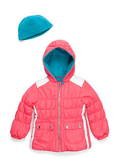 London Fog Colorblock Puffer Coat Girls 4-6x