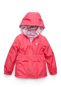 London Fog Reversible Ruffle Trim Jacket Girls 4-6x