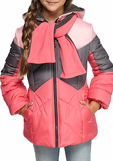 London Fog Tritone Puffer Jacket Girls 7-16