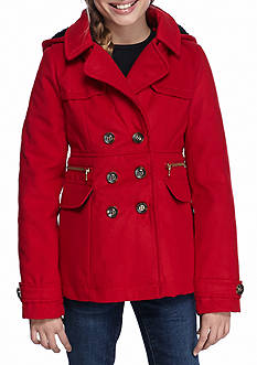 Jessica Simpson Solid Double Breasted Peacoat Girls 7-16