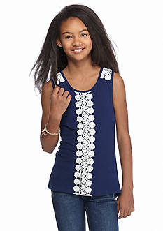 One Step Up Crochet Front Tank Top Girls 7-16