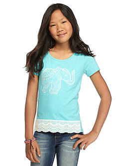 One Step Up Elephant Crochet High Low Top Girls 7-16