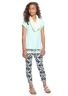 One Step Up 2-Piece Printed Legging & Top Set Girls 7-16