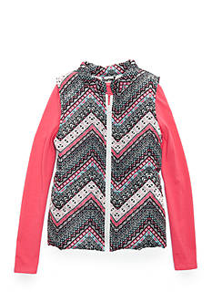 One Step Up Multi Print Puffer with Top 2-Piece Set Girls 7-16