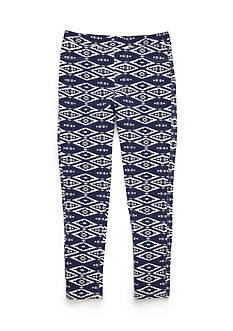 One Step Up Tribal Print Jeggings Girls 7-16