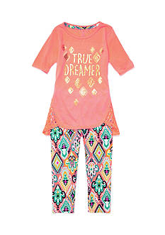 One Step Up 'True Dreamer' Screen Tee and Legging 2-Piece Set Girls 4-6x