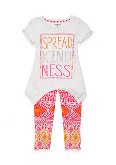 One Step Up 'Spread Kindness' Screen Tee and Leggings 2-Piece Set Girls 4-6x