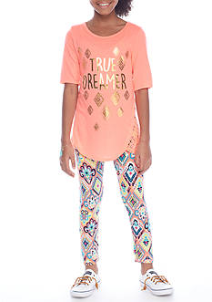 One Step Up 'True Dreamer' Tunic and Leggings 2-Piece Set Girls 7-16