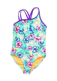 Breaking Waves 1-Piece Hawaiian Dreams Swimsuit Girls 7-16