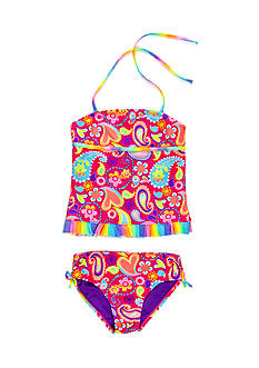 Breaking Waves 2-Piece Paisley Print Tankini Set Girls 7-16