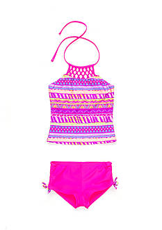 Breaking Waves 2-Piece Charmazing Macrame Tankini Girls 7-16