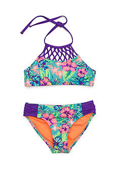 Breaking Waves 2-Piece Hawaiian Dream Macrame Bikini Girls 7-16