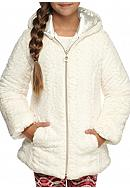 Amy Byer Fuzzy Hooded Zip Jacket Girls 7-16