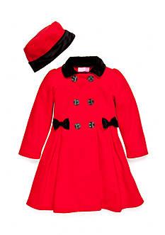 Good Lad Double Breasted Bow Fleece Coat Girls 4-6x