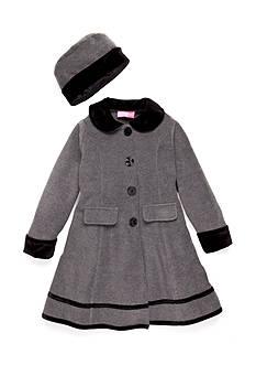 Good Lad Round Collar Fleece Coat Girls 4-6x