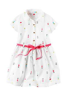Carter's Puppy & Girl Printed Dress Girls 4-6x