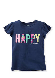 Carter's® Embroidered 'Happy' Top Girls 4-6x