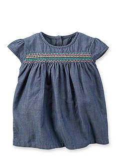 Carter's® Smocked Chambray Tunic Girls 4-6x