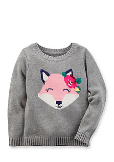 Carter's Long Sleeve Fox Sweater Girls 4-6x