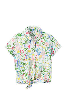 Carter's Floral Tie Front Top Girls 4-6x