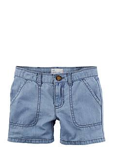 Carter's Denim Roll-Cuff Shorts Girls 4-6x